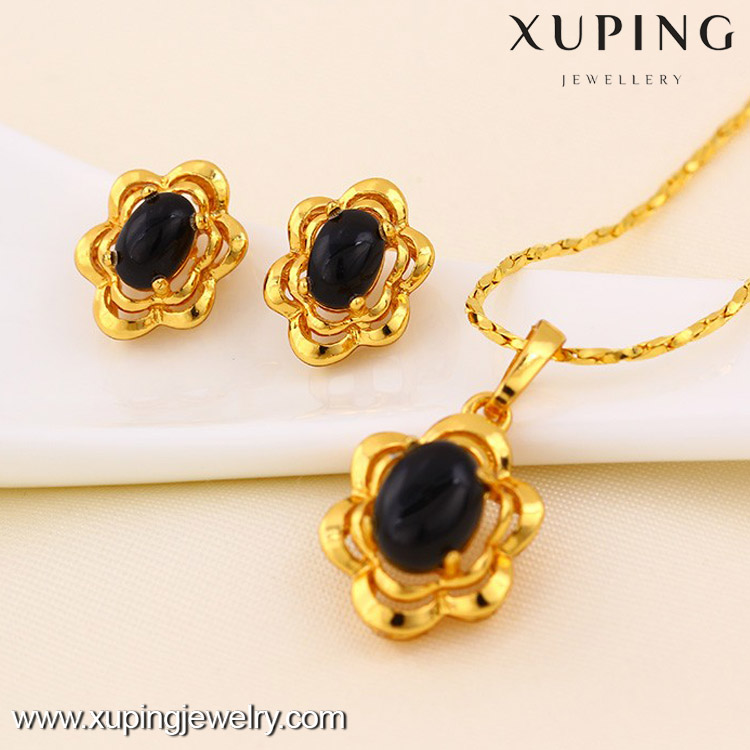 61245 High quality 24k gold color african gold plating jewelry set