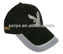 six panels baseball wigs cotton embroidery logo cap