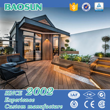Flexible modern prefab wooden off-site house/light steel villa made in china