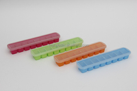 Plastic personalized ice cube tray,ice cube container with lid