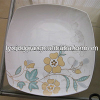 service of modern dishes square,ceramic pie plate