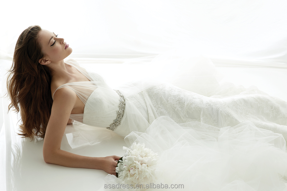 Gorgeous French Lace Wholesale Bridal Dress Layered Feather Bridal ...