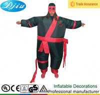 DJ-CO-118 INFLATABLE NINJA ADULT FANCY DRESS COSTUME FAT WARRIOR HEN STAG NIGHT OUTFIT