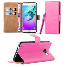 Premium PU wallet flip cover folio Leather Case For Samsung A3 2016 with card slots