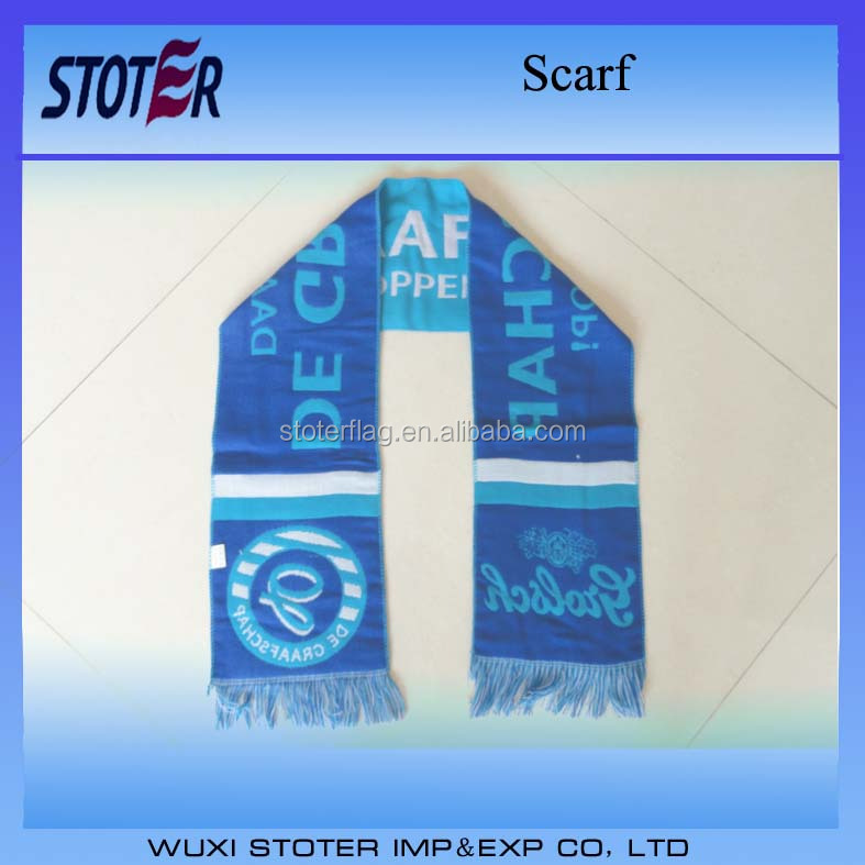 Hot Sale Angola Cotton Knitted Fans Scarf Jacquard Weave scarf