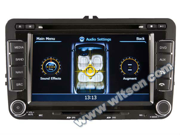 WITSON A8 Chipset VW JETTA/TIGUAN/TOURAN gps navigation system HD 1080P 1G CPU 512M RAM 3G/ wifi/DVR (Option) with iPhone ready