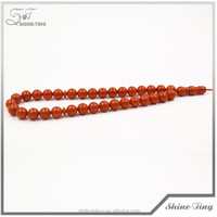 2014 high quality amber rosary bead necklace