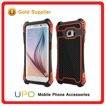 [UPO]New arrival Luxury Carbon Fiber Cell Phone Cases for Samsung Galaxy S6 Edge