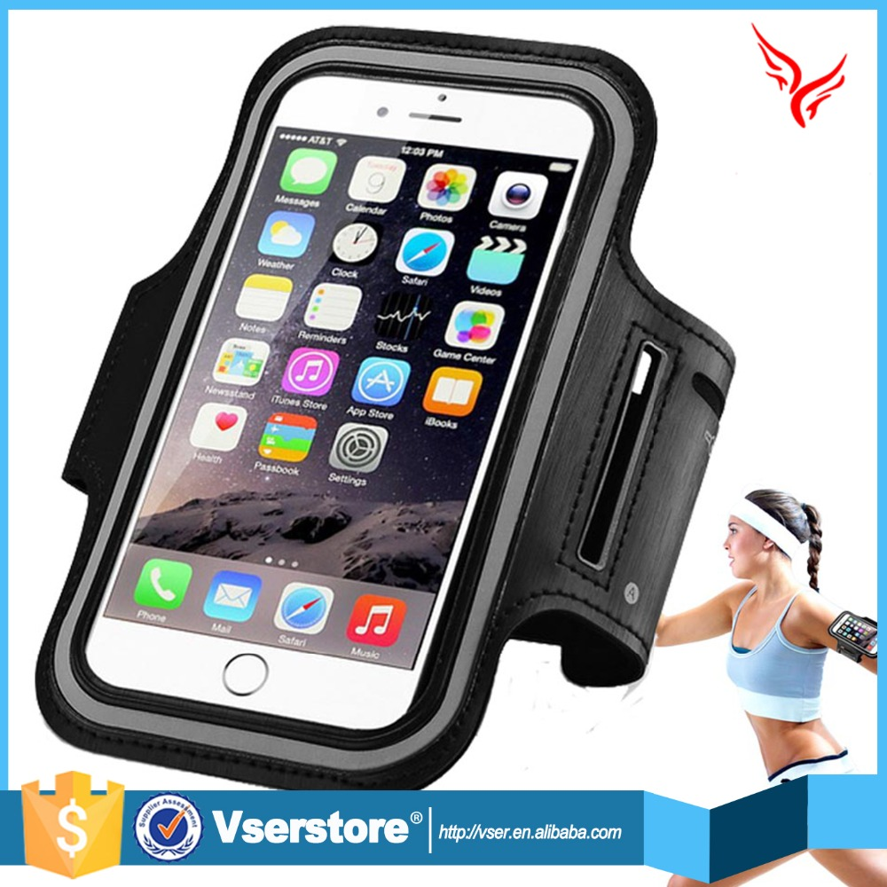 Hot Selling Adjustable neoprene cell phone case for iphone 6 sports armband jogging case