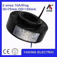 SRH70155 2P channel slip ring motor ID70 mm. OD150mm. 2Wires, 10A 2 wires