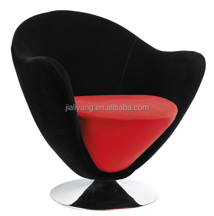 round fabric chair/fabric leisure chair with chrome round base -k132