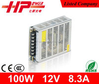 Factory hot sales good price single output constant voltage 12v 8.3a 100w 3D printer power supply
