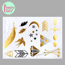 hot sale custom metallic temporary flash tattoo KB007