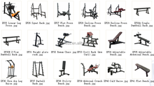 Adjustable Free Weight Lifting Bench/Utility Bench/Sports equipment