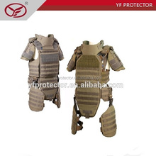 Full body protection kevlar bulletproof armor jacket with ballistic armor plate