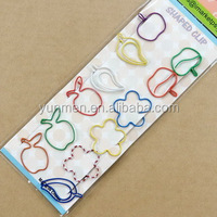 DKH019--12pcs of shaped paper clips in a paper card+opp bag