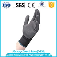 over 8 years experience nylon pu coated electrical safety gloves manufacture