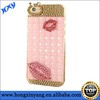 for iphone 5 5s sexy lip rhinestone mobile phone cover case