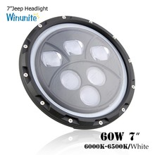 7in black daymaker 60w C REE chip led driving light, projector headlight DOT approved, J eep accessories part 7'' led headlights