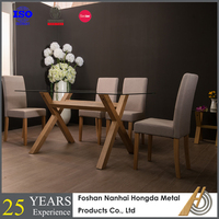 12mm thick tempered glass dining table wood