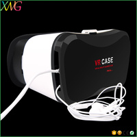 Accept OEM customized logo 3d vr glass Virtual Reality vr case 5 plus for mobile phone