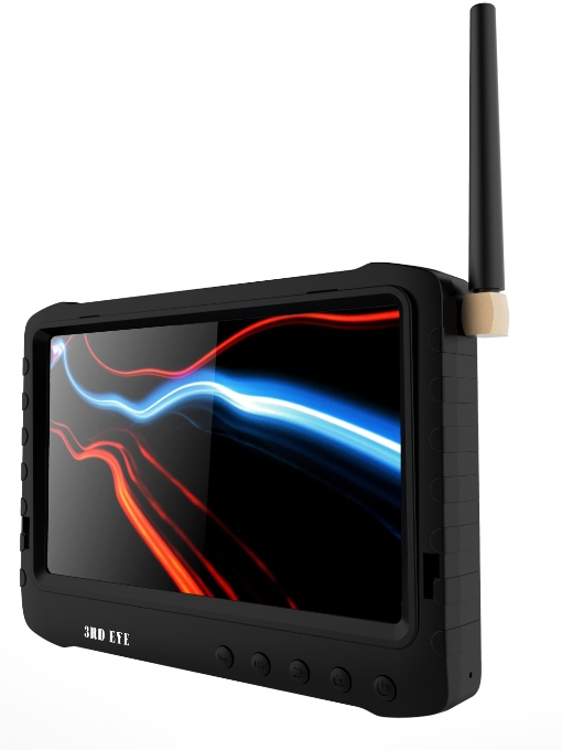 "1.2G/2.4G/5.8GHz 5 "" HD wireless Portable LCD DVR with detachable sun hood support auto scan channels"