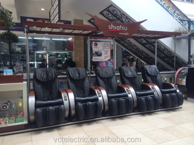 Vibrating back roller therapy massage chair vending