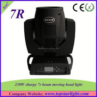 Professional Lighting Show Sharpy 7R 230w Beam Moving Head Lights for Sale
