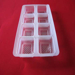 custom plastic clear blister packaging tray for frozen food packaging