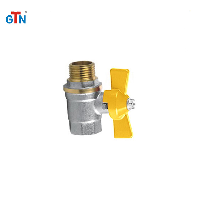 Durable aluminium handle valves thread 247V-B brass butterfly ball valve
