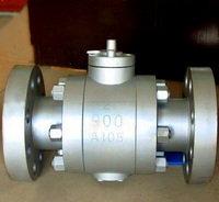 API 6D 2 inch PTFE seat float ball valve for gas