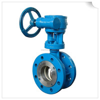 DN600 flange type metal sealed butterfly valve
