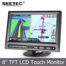 8 inch 12v hdmi input widescreen portable tablet panel display vga lcd car monitor