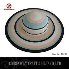 New Boxed STRAW OVERSIZE GIANT FLOPPY PARASOL SUN SHADE BEACH HAT