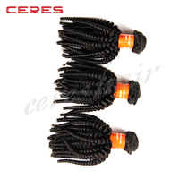 Big Discount Popular Cheap Natural short Kinky Curly Brazilian Virgin Hair Weave