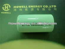 nimh battery/D size nimh rechargeable battey/ 1.2v 6000mah nimh battery