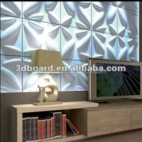 bamboo fiber material TV background 3D decoration wall panels