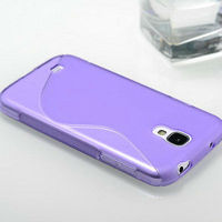 Wholesale purple soft silicone case for samsung galaxy s4