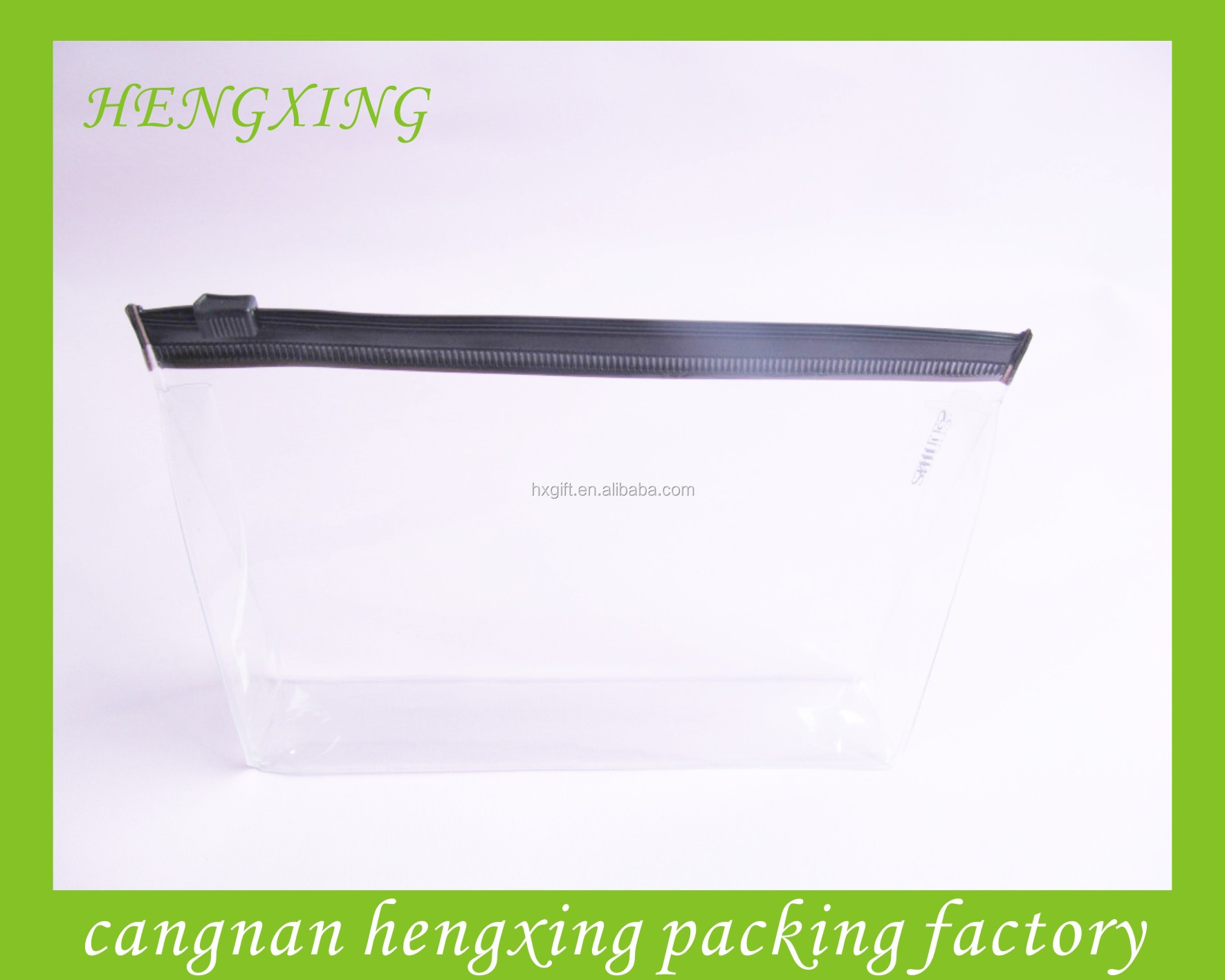 Promotion Slide PVC Bags For Sample Cosmetic Products Packing