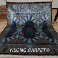 Yilong 2x3m turkish silk rug design hand knotted handmade carpet sales