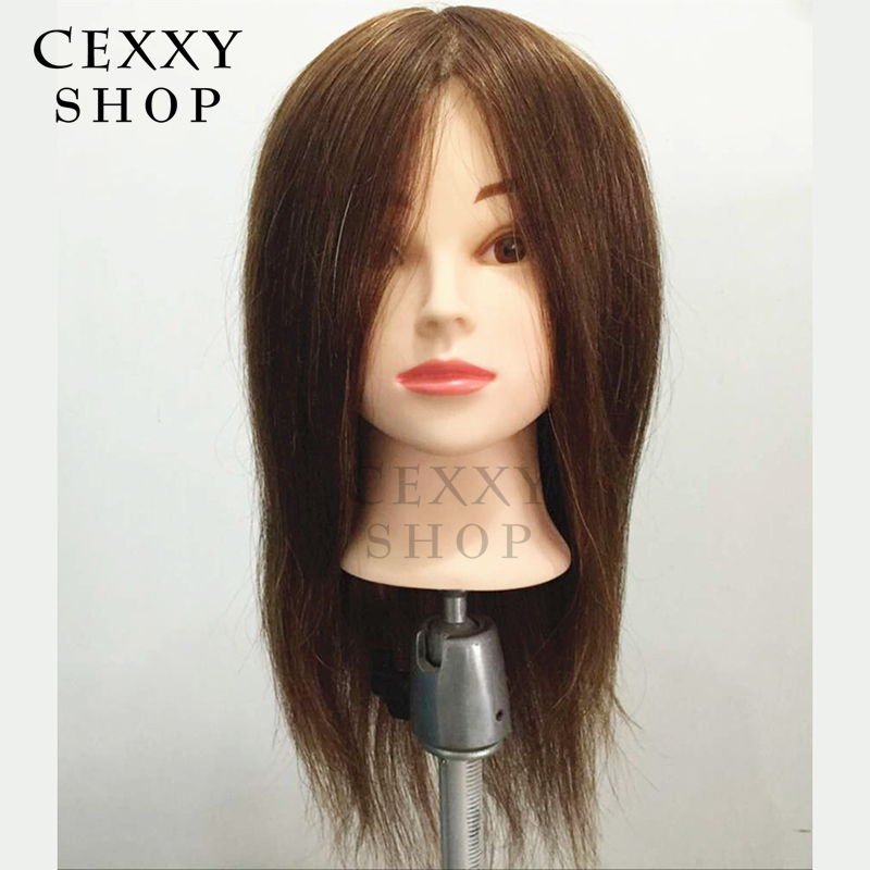 Wholesale Price Mannequin Head For Hairdresser Styling Head,High Quality 100% Human Hair,16 inch color 6,120g/piece