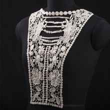 New design fashion flower embroidery cotton lace collar for garment decoration