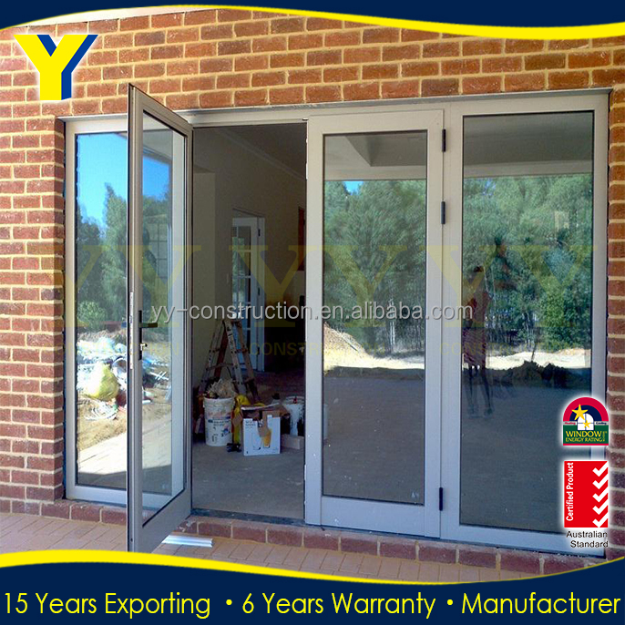 Wholesale Factory Low Price High Quality Customised Luxury Aluminum Frame Glass Double Exterior Entry Doors