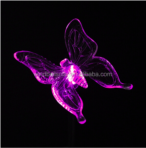 Solar garden lights/dragonflies and butterflies birds style