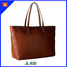 Hot selling Custom genuine leather PRACTICAL work tote shopper handbag lady's necessities bags