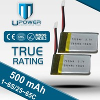customized RC uav 3.7v 130mah lipo battery