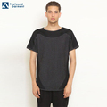 wholesale short sleeve o-neck black t-shirt slim fit men stretch