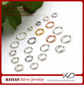 XD P05103 0.7x3mm Real 925 Sterling Silver DIY Jewelry Making Rings