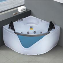 AD-611 Fiberglass 2 person corner bathtub with bath crock armrest panel with DVD radio massage tubs acrylic mold bathtub