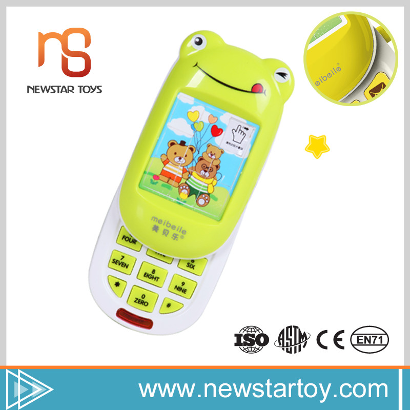 Hot selling lovely baby products musical mobile phone toy for kids